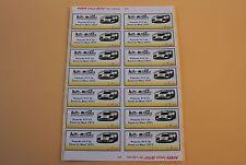 PX 1 planche 14 ex étiquette autocollant Porsche 917 Lh Essais Le Mans 1971 Heco