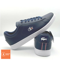 Men's Lacoste Carnaby Evo 119 Leather Trainers. Navy Blue