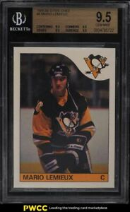 1985 O-Pee-Chee Hockey Mario Lemieux ROOKIE RC #9 BGS 9.5 GEM MINT