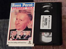 Ross Perot - Straight Talk (VHS) POLITICS (FREE SHIP)