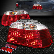 FOR 1995-2001 BMW E38 7-SERIES RED CLEAR TAIL LIGHT REAR BRAKE REVERSE LAMP