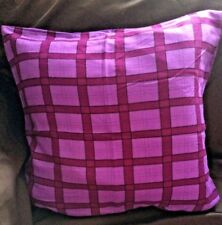 Handmade Purple Lilac Grid Tartan Square Pattern Light Cushion Cover 19'' Square