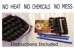 Hair curler kit xmas gift 35pcs DIY No Heat No Chemicals Easy to use tool