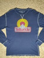 Long Sleeve Telluride Colorado Navy blue T-shirt Thermal Size Large
