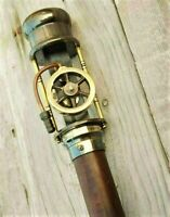 Working Steam Engine Model Brass Handmade Steampunk Walking Cane / Stick WS 012