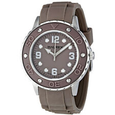 Haurex Italy Vivace Grey Dial Grey Rubber Strap Ladies Watch 1D371DGG