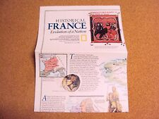 National Geographic Magazine July 1989 Map/Poster Historical France Evolution
