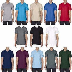 Gildan Mens Soft Style Premium 100% Cotton Adult Jersey Polo Tee T Shirt Pique