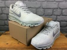 Nike Hombre Uk 7 UE 41 Air Max 2017 Blanco Gris Zapatillas Rrp £ 120 M