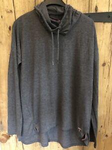 Next NX Sport Performance Ladies Charcoal Grey Cowl Neck Sweatshirt - UK 14