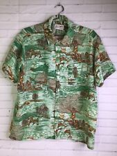 Easy Man by Campus Mens Size L Vintage 70s Lifestyle Print Button Down Shirt USA