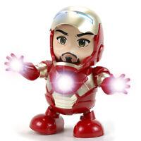 Dancing Iron Man Hand Model Electric Toys Music Light Dance Doll Hyun Robot