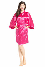 Women's Satin Robe Bathrobe Short Nightgown Shanghai style wedding