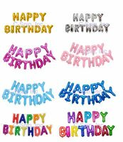 HAPPY BIRTHDAY Letter Foil Balloons Set wString Party Decor Baby Shower WILD ONE
