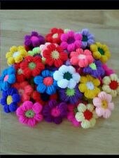 20X HAND MADE CROCHET FLOWER.SEWING APPLIGUES 2""