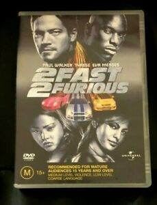 2 Fast 2 Furious (2003 : 1 Disc DVD Set) Very Good Condition Region 4