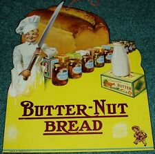 BUTTERNUT BREAD DIE CUT 1920's LARGE COUNTRY STORE SIGN