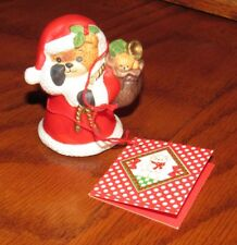 Vintage New Old Stock Lucy & Me, Santa Claus with a Sack of Toys, Bear Figurine
