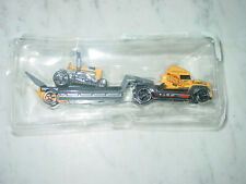 2014 Hot Wheels Steel Power HWRT Dragtor Support Team Yellow Hauler With Car!