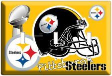 PITTSBURGH STEELERS NFL FOOTBALL TEAM LOGO TRIPLE LIGHT SWITCH WALL PLATE COVER