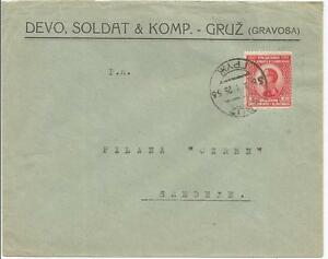 TYPED  COVER   WITH KING ALEXANDER STAMP CIRCA 1925 REF 725