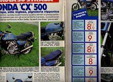 Z36 Ritaglio Clipping 1978 Prova Honda CX 500 Gente Motori