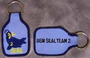 Embroidered Cloth Military Key Ring Navy SEAL Team 2 NEW