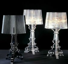 """Desk Lamps New Height: 19.6"""" Contemporary CLEAR Bourgie Transparent Table Lights"""