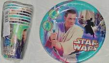 STAR WARS EPISODE 1 PACK OF 8 PAPER CUPS & 8 PLATES