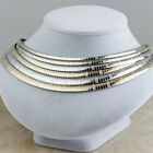 Women's Stainless Steel Fashion Silver Gold Female Collar Choker bib Necklaces