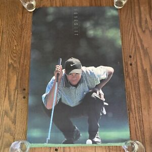 Tiger Woods 'The Eyes Have It' Rookie Poster - Vintage 23 x 35 1997 Nike