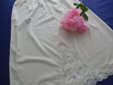Vintage Ivory Half Slip with Lace Trim Lorraine Size Small Tall