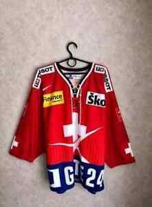 Switzerland Suisse National Team  Hockey Rare Vintage jersey