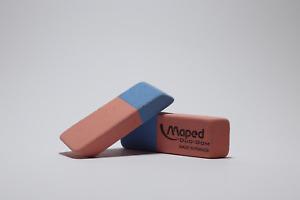 Gomme bicolore Maped DUO-GOM en caoutchouc naturel; idéal pour les enfants