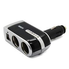 Dual USB & 2 Way Car Cigarette Lighter Socket Splitter DC 12V Charger Adapter