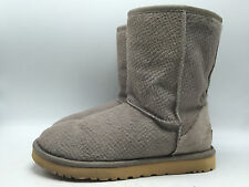 2B8 Ugg Australia 1008432 Calf Hair Gray Cozy Comfy Casual Boots Women Shoe Sz 7