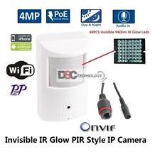 4MP IP IR POE Spy Nanny Hidden PIR Motion Detector Sensor HD Camera ONVIF AUDIO