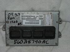 2004 Dodge Ram 1500 3.7 AT Ecm Engine Computer 56028790AC