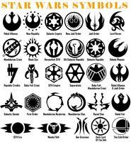 Star Wars Symbol Vinyl Decal Sticker Door Window Starwars Galactic USA Seller
