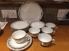 Pretty Kokura Japanese Teaset  1 x Cake Plate, 6 x Plates, 6 x Saucers, 5 x Cups