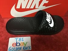 82eb03134 NIKE WOMEN S BENASSI Slides Slide Black White 343881-011 Size 6-10 NEW