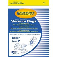 5 Vacuum Bags, BOSCH Type P Canister Vacuum Microfiltration. Part 462586