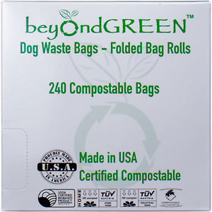 beyondGREEN Dog Waste Bags, Extra Thick and Strong, Guaranteed. 240CT