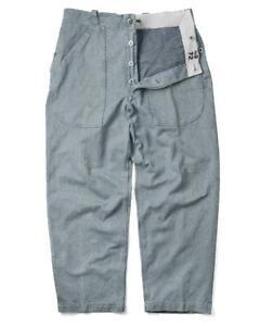 Vintage Swiss Prison Trousers - Vintage Jeans Denim Army Surplus Pants Military