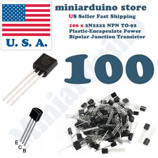 100pcs 2N2222A NPN 2N2222 TO-92 Plastic-Encapsulate Power Transistors 40V ECB