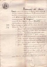 IMPERO FRANCESE - NAPOLEONE III° - CHAGNY - RARO ATTO NOTARILE - 1860