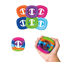 1x Squeeze snap sensory tool fidget toy autism hand strength play