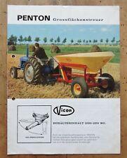 orig. Prospekt Vicon Penton Grossflächenstreuer Traktor Schlepper