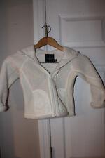 Faded Glory White Zip Front Fleece Hoodie Sz. Xs 4-5