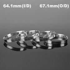 4Pcs Aluminum Wheel Hub Centric Rings Spigot Spacer Set 64.1mm ID to 67.1mm OD